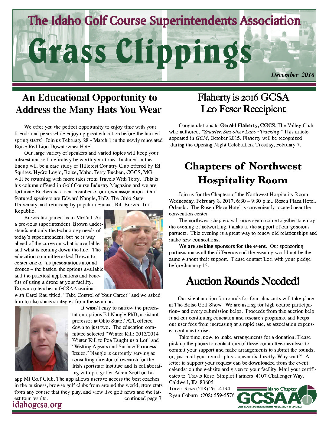 NEWSLETTER Idaho May 2016